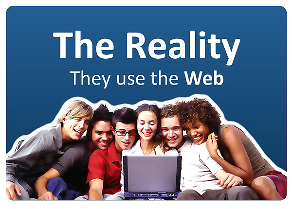 The reality, they use the web